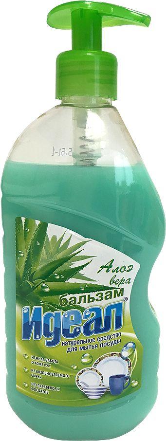 Бальзам для мытья посуды Идеал Алоэ, 500 мл11464Алоэ вера, бальзам для мытья посуды, защищает кожу рук. Растворяет жир даже в холодной воде. Не оставляет следов и запаха на посуде, легко смывается водой.