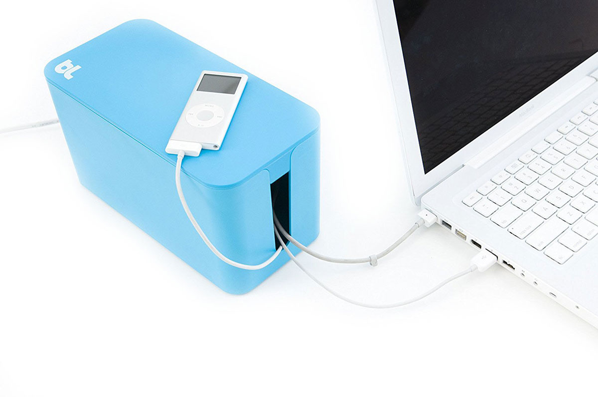 Bluelounge CableBox CBM-BLU, Blue бокс для проводов modren ghost shadows bedroom bedside table lamps with shade led table lamp e27 e26 acrylic reading desk lights dia 24 h52cm