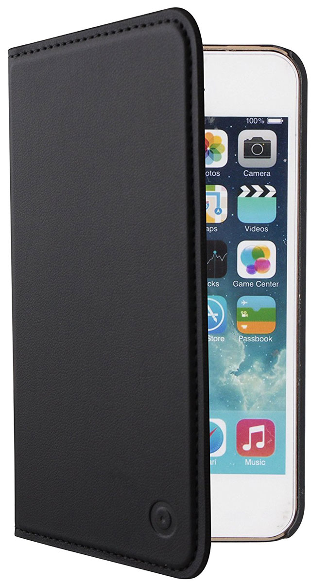 Muvit Folio Stand Case чехол для Apple iPhone 5/5S/SE, Black - Чехлы