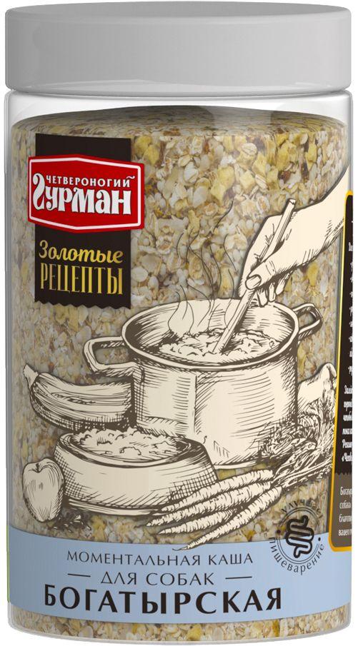 Каша для собак Четвероногий гурман Богатырская, моментальная, 300 г nordic хлопья овсяно ржаные с отрубями и семенами льна 600 г