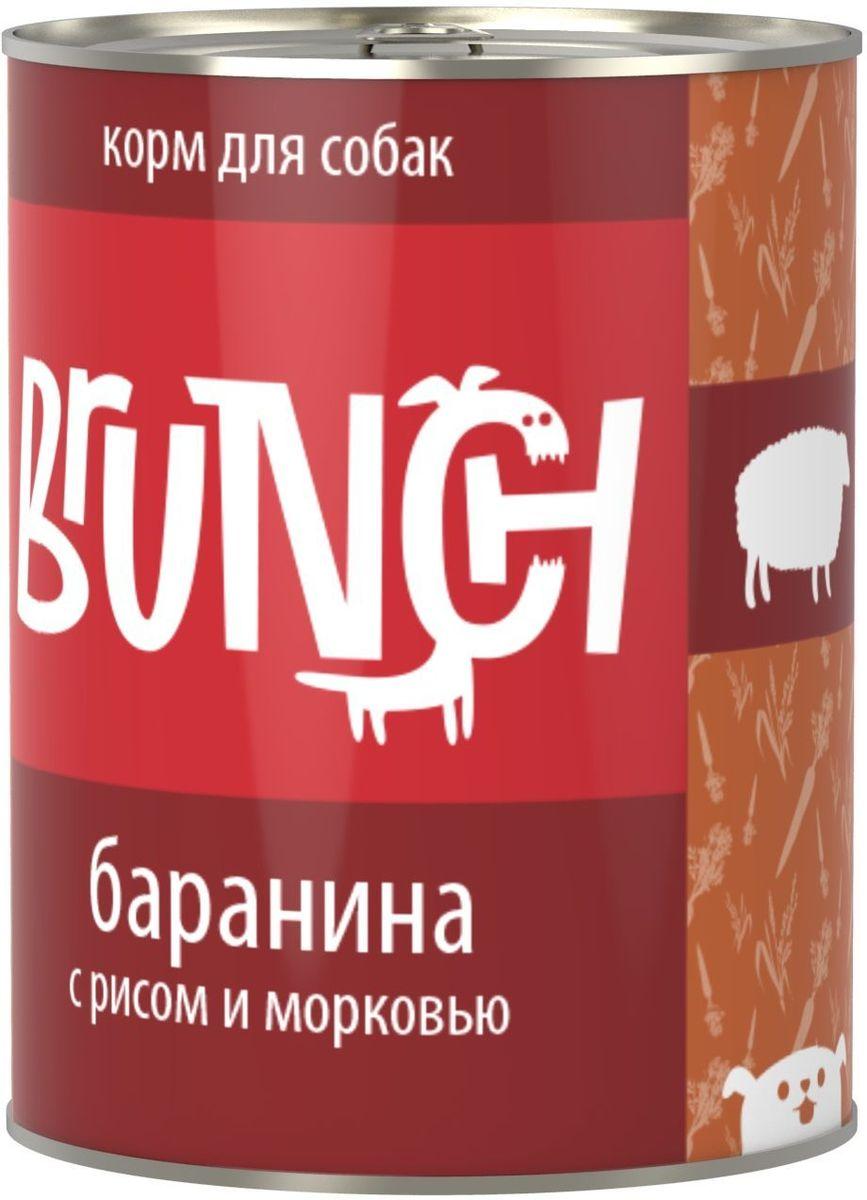 Консервы для собак Brunch, баранина с рисом и морковью, 850 г консервы для собак aras hypo allergenic гипоаллергенные с бараниной и рисом 820 г