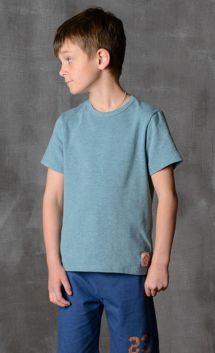Футболка для мальчика Modniy Juk, цвет: зеленый. 01B00110102. Размер 164/17001B00110102/MODNIY_JUK/Стильная футболка для мальчика Modniy Juk изготовлена из высококачественного легкого хлопка, она приятна на ощупь, не раздражает нежную и чувствительную кожу ребенка, позволяя ей дышать. Модель имеет полуприлегающий силуэт, круглый вырез горловины не стесняет движения. Изделие дополнено ярким принтом в стиле Modniy Juk.