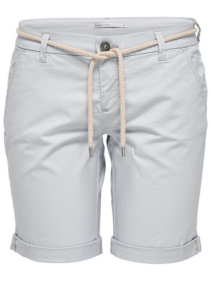 Шорты женские Only, цвет: серый. 15134356_High-Rise. Размер 40 (46) шорты женские only цвет синий 15134356