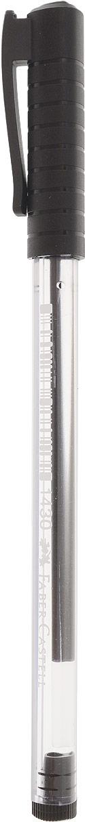 Faber-Castell Ручка шариковая 1430 цвет чернил черный521099Шариковая ручка Faber-Castell 1430 эргономичной трехгранной формы станет незаменимым атрибутом учебы илиработы. Прозрачный корпус ручки выполнен из пластика. Вентилируемый колпачок соответствует цвету чернил. Высококачественные чернила позволяют добиться идеальной плавности письма. Особенности:трехгранная форма;качественные чернила;длина письма 1200 м;никелевый наконечник;толщина линии 0,7 мм;вентилируемый колпачок.
