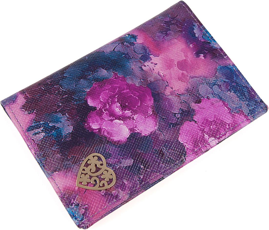 Обложка для паспорта женская Labbra, цвет: фиолетовый. L054-0011L054-0011Обложка для документов торговой марки LABBRA из натуральной кожи. Модель имеет 3 отделения для кредитных карт.