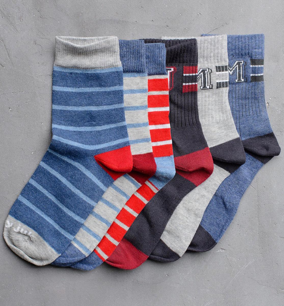 Носки для мальчика Modniy Juk, цвет: мультиколор. Socks 22/Logo. Размер 12/14Socks 22/Logo/Стильные носки для мальчика Modniy Juk изготовлены из высококачественного материала, они приятны на ощупь, не раздражают нежную и чувствительную кожу ребенка, позволяя ей дышать. Модель отлично облегает стопу. Усиленный мысок и пятка продлят срок эксплуатации. Изделие дополнено логотипом в стиле Modniy Juk.