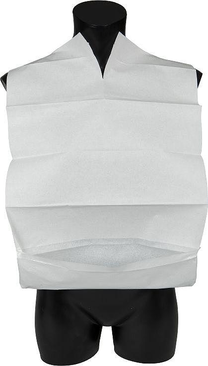 Abena Одноразовые трехслойные нагрудники с карманом, 38 х 60 см, 100 шт330211Одноразовые трехслойные нагрудники для взрослых специально разработаны для обеспечения гигиенической защиты во время приема пищи.Нагрудники легко одеваются и благодаря трехслойной структуре обеспечивают прекрасную защиту одежды. Для более надежной защиты внизу нагрудника имеется карман, задерживающий частички пищи.Для максимальной вместительности карман должен быть вывернут наружу.Размер: 38х60