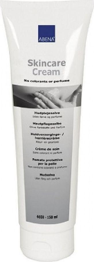 Abena Крем для ухода за кожей, 150 мл6659Крем для ухода за кожей от Abena предназначен для ухода за сухой, потрескавшейся и пересушенной кожей тела и ног. Он хорошо подойдет для ухода за кожей с легкой степенью экземы и псориаза и для защиты рук при работе с едкими веществами. Его можно использовать в качестве барьерного крема для людей, страдающих от недержания.Действие: - Эффективно питает кожу. - Формирует защитную мембрану на коже. - Восстанавливает раздраженную или поврежденную кожу и предотвращает ее пересушивание. - Борется с кожной сыпью.