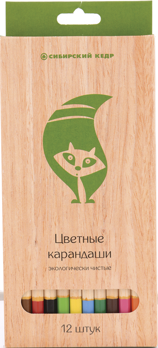 СКФ Набор цветных карандашей Сибирский кедр Eco 12 шт карандаши