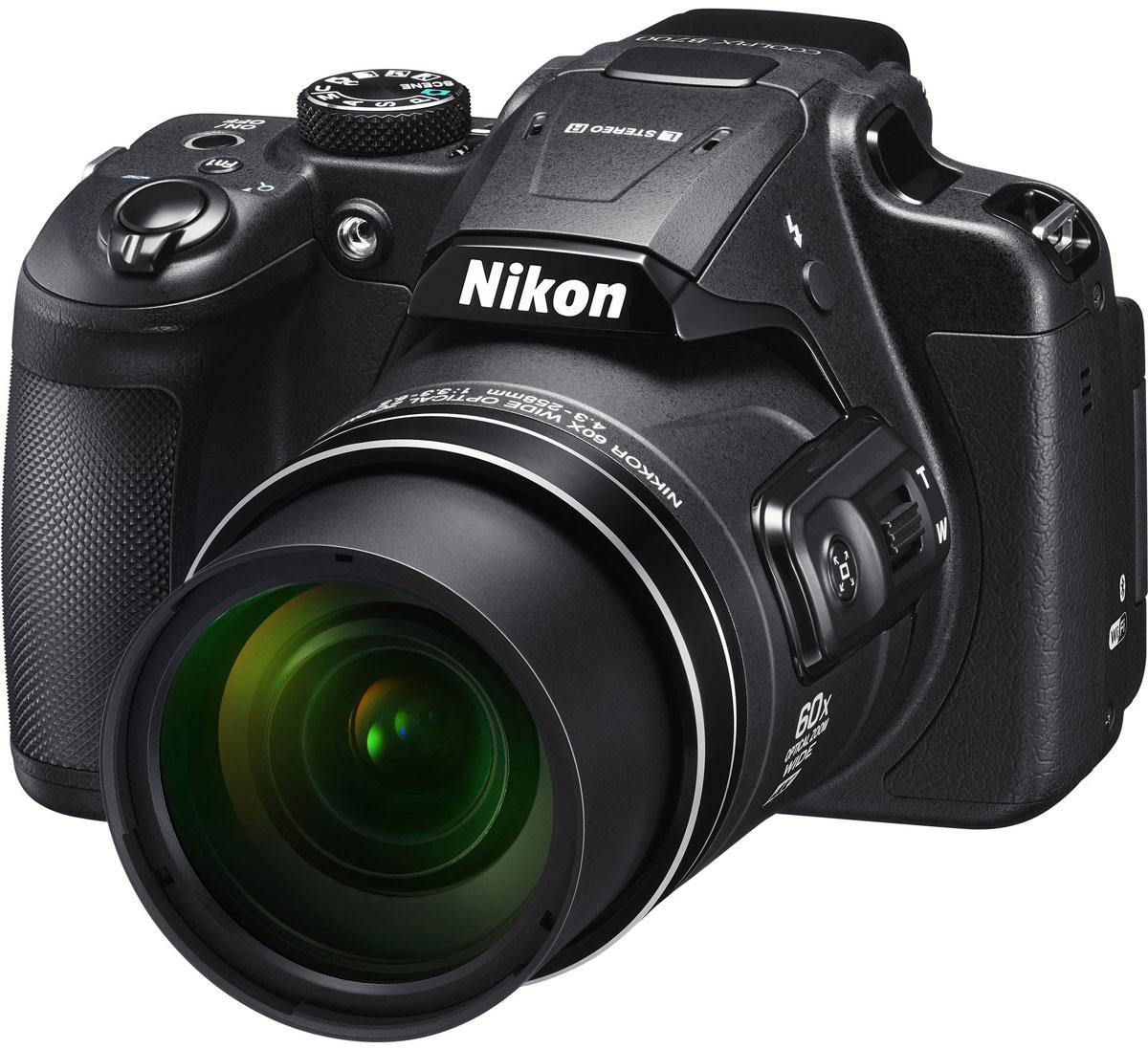 Nikon Coolpix B700, Black цифровая фотокамераVNA930E1Создавайте изображения с высокой детализацией с помощью 20,3-мегапиксельной фотокамеры Nikon Coolpix B700 с мощным зум-объективом.Оцените легендарное качество оптики NIKKOR в объективе с элементами из стекла ED, 60-кратным оптическим зумом, который можно увеличить до 120-кратного с помощью функции Dynamic Fine Zoom, позволяющим снимать на невероятных расстояниях, а также высокопроизводительной системой автофокусировки (АФ), обеспечивающей высокую точность съемки. Записывайте отвечающие требованиям завтрашнего дня видеоролики в формате 4K UHD и снимайте фотографии в формате RAW (NRW), обеспечивающем высочайшее качество изображений. Система Dual Detect Optical VR (подавление вибраций), позволяющая увеличить выдержку на 5 ступеней, и боковой рычажок зуммирования сводят к минимуму влияние дрожания фотокамеры. Кроме того, для съемки можно использовать электронный видоискатель или ЖК-монитор с переменным углом наклона. Поддерживайте соединение фотокамеры с интеллектуальным устройством с помощью приложения SnapBridge.Снимайте диких животных с безопасного расстояния, фотографируйте звезды в ночном небе или ловите самые впечатляющие моменты спортивных соревнований, используя объектив NIKKOR со сверхмощным 60-кратным оптическим зумом, который можно расширить до 120-кратного с помощью функции Dynamic Fine Zoom. Диапазон зуммирования охватывает углы зрения от широкоугольного 24 мм до супертелефото 1440 мм (эквивалент для формата 35 мм), а также поддерживает макросъемку объектов, расположенных на расстоянии всего 1 см от объектива. Залогом превосходных результатов является надежная оптика NIKKOR с использованием стекла Super ED. Конструкция объектива с элементом из стекла Super ED обладает улучшенными характеристиками, в том числе чрезвычайно высокой способностью к устранению вторичного спектра, что обеспечивает превосходную коррекцию хроматической аберрации.Высокое разрешение КМОП-матрицы фотокамеры позволяет создавать изобра