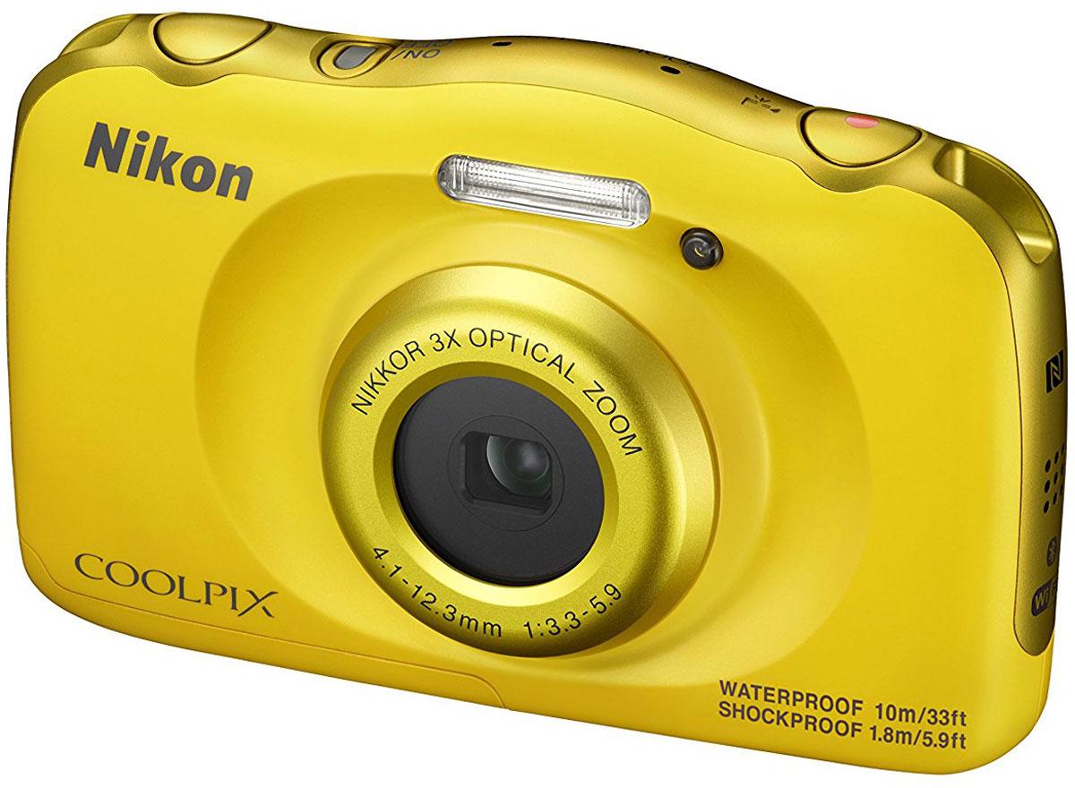 Nikon Coolpix W100, Yellow цифровая фотокамера - Цифровые фотоаппараты