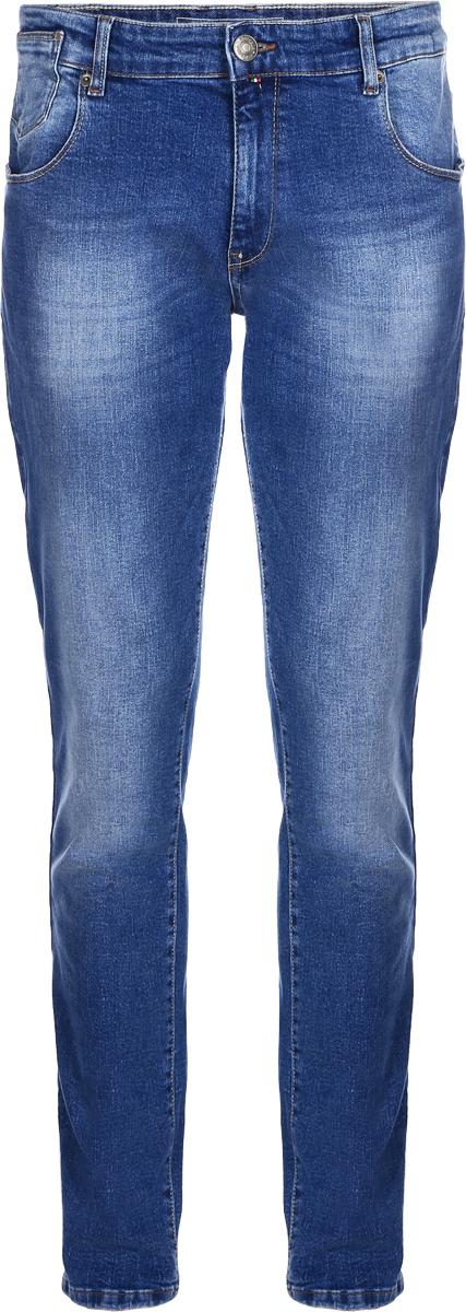 Джинсы мужские F5, цвет: синий. 14439_09618. Размер 34-34 (50-34)14439_09618, Blue denim V-008 str., w.mediumМужские джинсы F5 выполнены из хлопка с небольшим добавлением эластана. Модель на поясе застегивается на металлическую пуговицу и имеет ширинку на молнии, а также шлевки для ремня. Спереди расположены два внутренних кармана со скошенными краями и один накладной кармашек, а сзади - два накладных кармана. Изделие оформлено небольшой нашивкой с названием бренда.