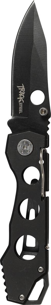 Нож складной Track Steel. 55441025544102Складной нож Track Steel всегда найдет себе применение на даче или в гараже, на рыбалке или охоте. Малые габариты делают его удобным при частой транспортировке. Лезвие выполнено из высококачественной нержавеющей стали. Изделие имеет удобную рукоятку. Нож снабжен прочным чехлом из нейлона.Длина клинка: 65 мм.Толщина клинка: 2,9 мм.Общая длина ножа: 180 мм.