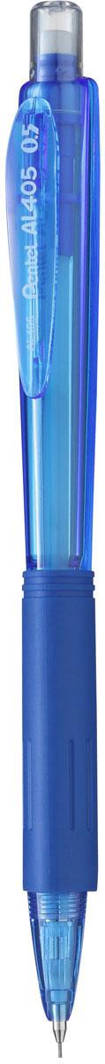Pentel Карандаш механический цвет корпуса синийPAL405-CКомфортный и надежный карандаш Pentel с трехгранной мягкой зоной захвата.Карандаш имеет прочный корпус из матового пластика зеленого цвета и металлическую убирающуюся цангу.Под колпачком карандаша находится ластик.
