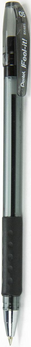 Pentel Ручка шариковая Feel It цвет чернил черный 0,5 ммPBX485-AИдеальная ручка для школьника! Ручка создана специально для комфортного письма.Масляные чернила нового поколения: пишут мягко, ярко, без нажима, цвет чернил - черный. Трехгранная мягкая зона захвата разработана для удобного положения пальцев при письме, предотвращает их скольжение; снижает напряжение и усталость руки при письме. Ручка имеет металлический прочный наконечник, который обеспечивает долговечность ручки при длительном использовании.
