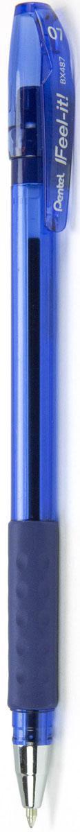Pentel Ручка шариковая Feel It цвет чернил синий 0,7 ммPBX487-CИдеальная ручка для школьника! Ручка создана специально для комфортного письма.Масляные чернила нового поколения: пишут мягко, ярко, без нажима, цвет чернил - синий. Трехгранная мягкая зона захвата разработана для удобного положения пальцев при письме, предотвращает их скольжение; снижает напряжение и усталость руки при письме. Ручка имеет металлический прочный наконечник, который обеспечивает долговечность ручки при длительном использовании.