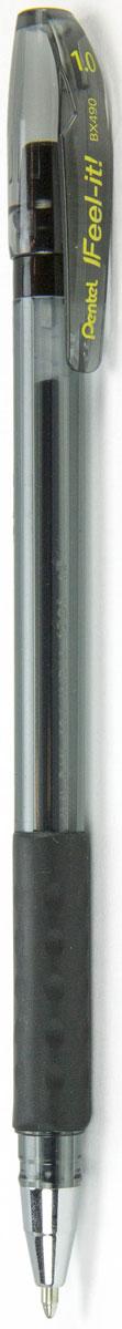 Pentel Ручка шариковая Feel It цвет чернил черный 1 ммPBX490-AИдеальная ручка для школьника! Ручка создана специально для комфортного письма.Масляные чернила нового поколения: пишут мягко, ярко, без нажима, цвет чернил - черный. Трехгранная мягкая зона захвата разработана для удобного положения пальцев при письме, предотвращает их скольжение; снижает напряжение и усталость руки при письме. Ручка имеет металлический прочный наконечник, который обеспечивает долговечность ручки при длительном использовании.