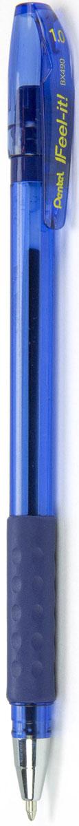 Pentel Ручка шариковая Feel It цвет синий 1 ммPBX490-CРучка шариковая Pentel Feel It - идеальная ручка для школьника! Ручка создана специально для комфортного письма.Масляные чернила нового поколения: пишут мягко,ярко, без нажима. Трехгранная мягкая зона захвата разработана для удобного положения пальцев при письме, предотвращает их скольжение;снижает напряжение и усталость руки при письме. Ручка имеет металлический прочный наконечник, который обеспечивает долговечность ручкипри длительном использовании.