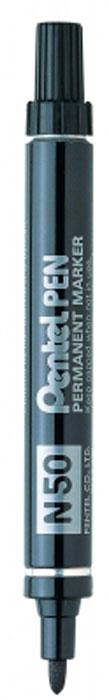Маркер перм. PENTEL PEN черный 4.3 мм в блистереPN50-AПулеобразный наконечник. Диаметр стержня 4.3 мм. Металлический корпус. Идеально пишет на любых поверхностях – стекло, металл, резина, дерево, ткань.