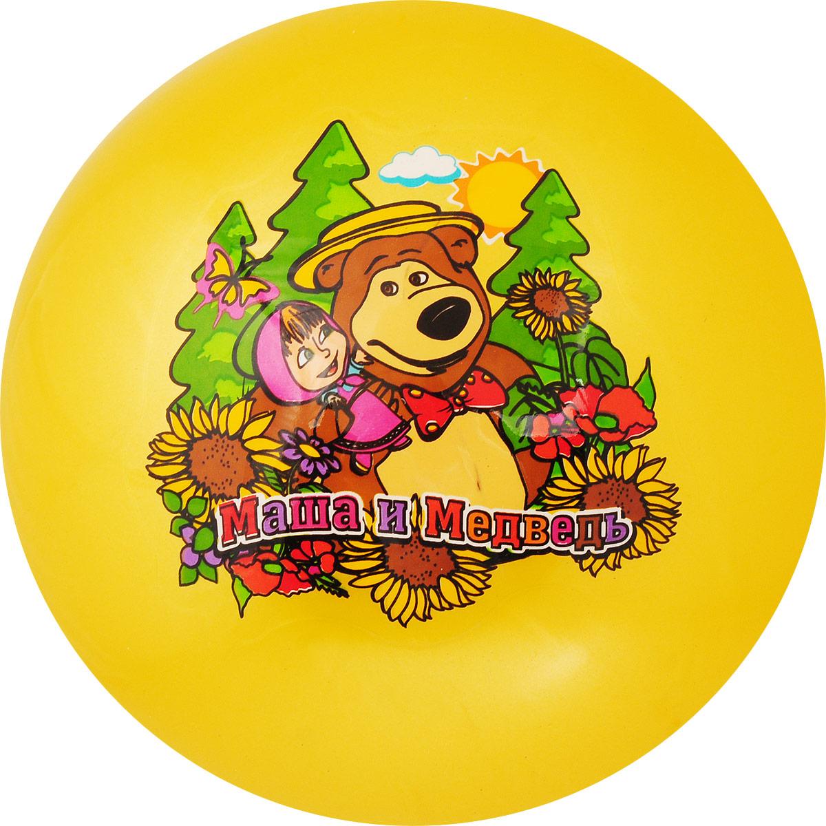 Играем вместе Мяч Маша и Медведь цвет желтый 23 см