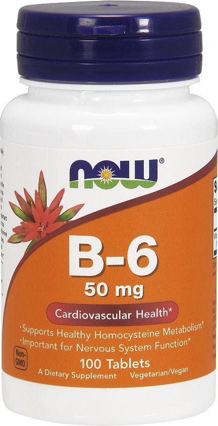 """Витамин Now Foods """"B-6 50mg"""", 100 табл, Now Foods Nutrition"""