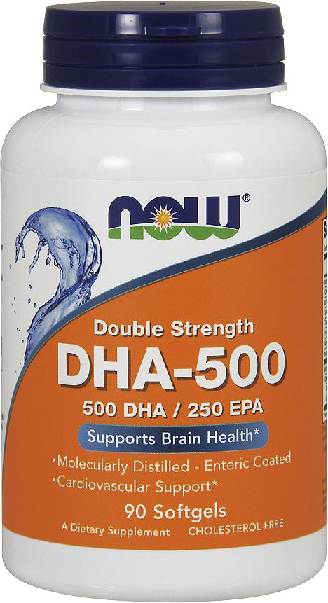 Докозогексаеновая кислота Now Foods DHA 500mg, 90 капсул now foods plant enzymes 120 veg capsules free shipping