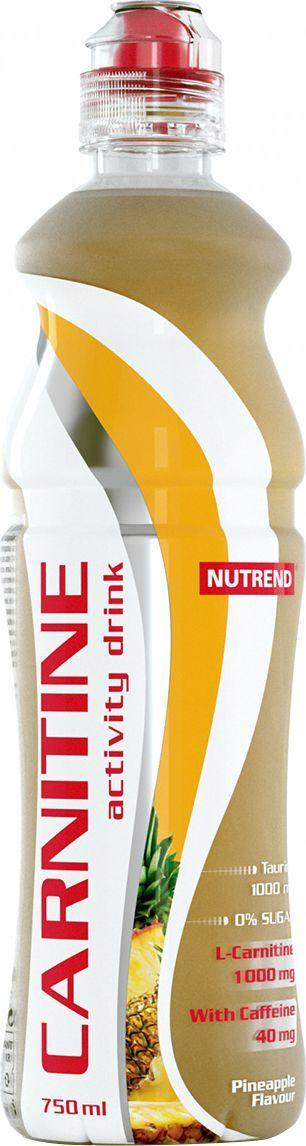 Напиток с L-карнитином Nutrend Carnitine Activity Drink, ананас, 750 млNTD0637Освежающий напиток с L-карнитином, таурином и кофеином для дополнительной энергии и роста физической активности.Зачем нужен этот напитокCarnitine Activity Drink готовый к употреблению напиток без сахара, содержащий 1000 мг L-карнитина, а также природные энергетики – кофеин и таурин, которые помогут вам тренироваться с полной отдачей максимально долго. Напиток поможет увеличить работоспособность, подготовит тело к физическим нагрузкам и пополнит силы в ходе самой тренировки, если усталость возьмет над вами верх.Carnitine Activity Drink эффективно возместит потери жидкости организма во время физических нагрузок. L-карнитин в составе будет способствовать выработке энергии из жиров, уменьшая, таким образом, подкожную жировую клетчатку, а не мышечную массу, что делает тренировки более эффективными. Кофеин прерывает болевые сигналы, которые мышцы посылают в мозг, вы чувствуете себя лучше во время и после тренировки, можете заниматься дольше и интенсивнее. Кроме того, он активирует работу центральной нервной системы, повышая вашу концентрацию и скорость реакций. Таурин также способствует повышению концентрации, выводя ваши тренировки на новый уровень!Замечательная линейка освежающих вкусов удовлетворит запросы даже самого взыскательного потребителя. Выпив первую бутылочку, вы уже никогда не забудете взять еще одну на следующую тренировку.Преимущества:Произведен на основе чистой родниковой воды;Эргономичная форма бутылки не выскользнет из руки;Без сахара;В составе: L-карнитин, кофеин и таурин.Товар не является лекарственным средством.Товар не рекомендован для лиц младше 18 лет.Могут быть противопоказания и следует предварительно проконсультироваться со специалистом. Как повысить эффективность тренировок с помощью спортивного питания? Статья OZON Гид
