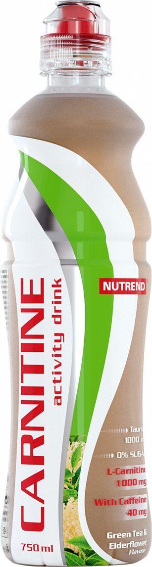 Напиток с L-карнитином Nutrend Carnitine Activity Drink, зеленый чай, 750 млNTD0644Освежающий напиток с L-карнитином, таурином и кофеином для дополнительной энергии и роста физической активности.Зачем нужен этот напитокCarnitine Activity Drink готовый к употреблению напиток без сахара, содержащий 1000 мг L-карнитина, а также природные энергетики - кофеин и таурин, которые помогут вам тренироваться с полной отдачей максимально долго. Напиток поможет увеличить работоспособность, подготовит тело к физическим нагрузкам и пополнит силы в ходе самой тренировки, если усталость возьмет над вами верх.Carnitine Activity Drink эффективно возместит потери жидкости организма во время физических нагрузок. L-карнитин в составе будет способствовать выработке энергии из жиров, уменьшая, таким образом, подкожную жировую клетчатку, а не мышечную массу, что делает тренировки более эффективными. Кофеин прерывает болевые сигналы, которые мышцы посылают в мозг, вы чувствуете себя лучше во время и после тренировки, можете заниматься дольше и интенсивнее. Кроме того, он активирует работу центральной нервной системы, повышая вашу концентрацию и скорость реакций. Таурин также способствует повышению концентрации, выводя ваши тренировки на новый уровень!Замечательная линейка освежающих вкусов удовлетворит запросы даже самого взыскательного потребителя. Выпив первую бутылочку, вы уже никогда не забудете взять еще одну на следующую тренировку.Преимущества:Произведен на основе чистой родниковой воды;Эргономичная форма бутылки не выскользнет из руки;Без сахара;В составе: L-карнитин, кофеин и таурин.Товар не является лекарственным средством.Товар не рекомендован для лиц младше 18 лет.Могут быть противопоказания и следует предварительно проконсультироваться со специалистом. Как повысить эффективность тренировок с помощью спортивного питания? Статья OZON Гид