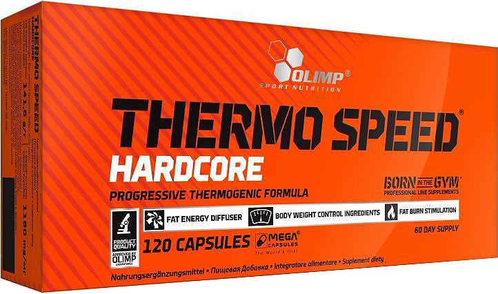 Жиросжигатель Olimp Sport Nutrition Thermo Speed Hardcore, 120 капсул протеин olimp sport nutrition provit 80 ваниль 700 г