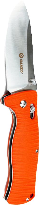 Нож Ganzo G720 оранжевыйG720-OКлинок складного ножа Ganzo G720 сделан из стали с высоким содержанием углерода марки 440C. Она хорошо противостоит коррозии, долго держит заточку. Твердость этого материала равна +-58 единиц по шкале Роквелла. Размер ножа таков, что его удобно носить с собою в кармане или брать с собою на загородный отдых, но длины клинка в 9 см достаточно, чтобы пользоваться ним было удобно. Толщина лезвия Ganzo G720 равна 4 мм.Чтобы нож было удобно держать в руке, рукоятка сделана из пластика. Ее форма — рифленая, а значит, нож не будет выскальзывать даже если руки мокрые или в перчатках. Материал рукоятки — пластик G10. Это особенно прочный вид пластика, который хорошо переносит механическое и химическое воздействие. К тому же, он легкий, что позволяет снизить общий вес ножа. Для модели Ganzo G720 этот показатель равен 205 г.Чтобы нож не открылся или не закрылся случайно, производители снабдили его надежным фиксирующим механизмом на основе штифта — замком Axis. Еще одна деталь для удобства пользователей — это металлическая клипса на корпусе. С ее помощью можно прикрепить Ganzo G720 на ремень, чтобы нож всегда оставался в пределах быстрой доступности.Особенности:общая длина открытого ножа — 21 см; длина клинка — 9 см; лезвие с прямой заточкой; для клинка использована качественная сталь 440C; накладки на рукоятку изготовлены из пластика G10; вес ножа 205 г; установлен замок Axis; Гарантия: В течение 12 месяцев с даты приобретения, на нож Ganzo G720 распространяется гарантия производителей. Состав материала: Сталь клинка — 440C, материал рукоятки — G10