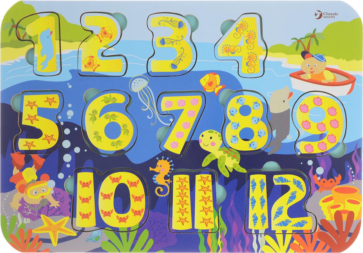 Classic World Пазл для малышей Умные числа бомик пазл для малышей цифры цвет основы синий