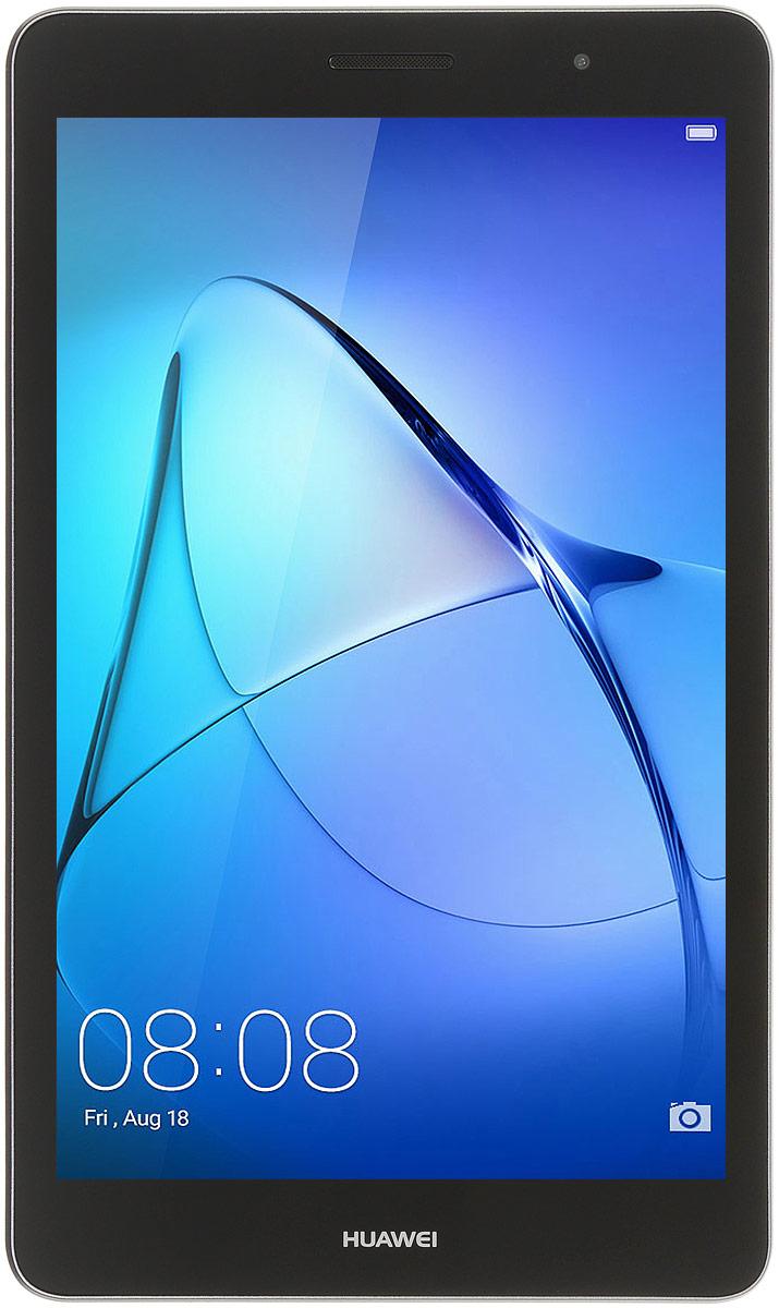 Huawei MediaPad T3 8.0 LTE (16GB), Grey53018493Планшетный компьютер Huawei MediaPad T3 8.0 LTE поддерживает MicroSIM-карты, обеспечивая вас мобильным интернетом с помощью 3G- и 4G-сетей.Планшет можно удерживать одной рукой, используя в режиме видеосвязи или телефонных переговоров. Толщина корпуса - всего 7,95 миллиметра, а вес - 350 грамм. 8-дюймовый экран модели поддерживает разрешение 1280 x 800 пикселей. В сочетании с высокой плотностью пикселей яркий дисплей обеспечивает комфортные условия для чтения и рабочих документов.Huawei MediaPad T3 8.0 LTE работает под управлением операционной системы Android, изменённой с помощью фирменной оболочки EMUI 5.1. Эта программа облегчает коммуникацию с планшетом и позволяет запускать два приложения на одном экране. Оболочка EMUI предлагает воспользоваться встроенной программой для мобильной связии SMS-клиентом, расширяя функциональность планшета до уровня смартфона.Благодаря емкому аккумулятору 4800 мАч, данный девайс обеспечит вам длительное время автономной работы даже в самых тяжелых режимах.Планшет сертифицирован EAC и имеет русифицированный интерфейс, меню и Руководство пользователя.