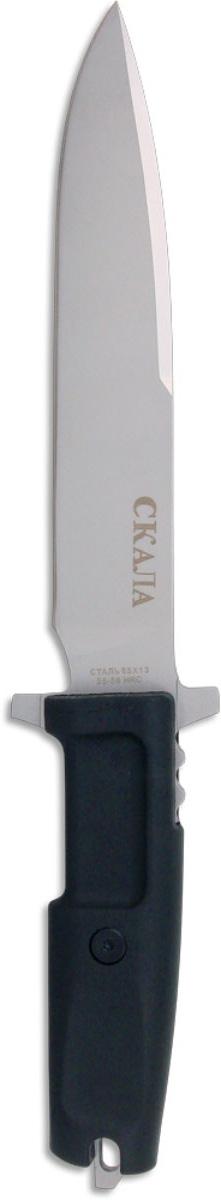 Нож охотничий Ножемир, длина клинка 18 см. H-147H-147 НожемирИнтересный вариант тактического ножа Ножемир изготовлен по мотивам классических боевых ножей. Такой нож можно использовать дляохоты или туризма, а также для тактических и страйкбольных игр. Клинок выполнен из высококачественной стали, а ручка - из эластрона. Нож оснащен пластиковыми ножами с разными вариантами подвеса: на пояс, на бедро, на снаряжение.Общая длина ножа: 31 см.Твердость стали: 55-56 HRC.