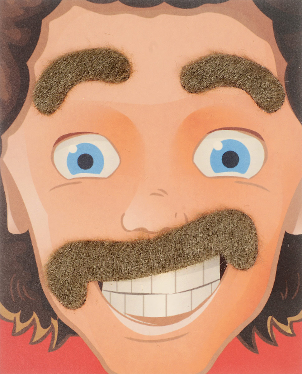 все цены на Partymania Карнавальный набор Брови и усы цвет русый онлайн