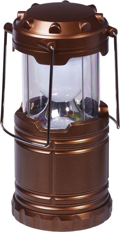 Фонарь кемпинговый FOCUSray, цвет: коричневый. FR-1040FR-1040Кемпинговый фонарь FOCUSray очень удобен в походах и путешествиях. Корпус выполнен из пластика. Он имеет один светодиод мощностью 3 Вт. В верхней части фонаря расположен контейнер для хранения мелких предметов.Источник питания: 3 х АА (в комплект не входит).Источник света: 3W LED.