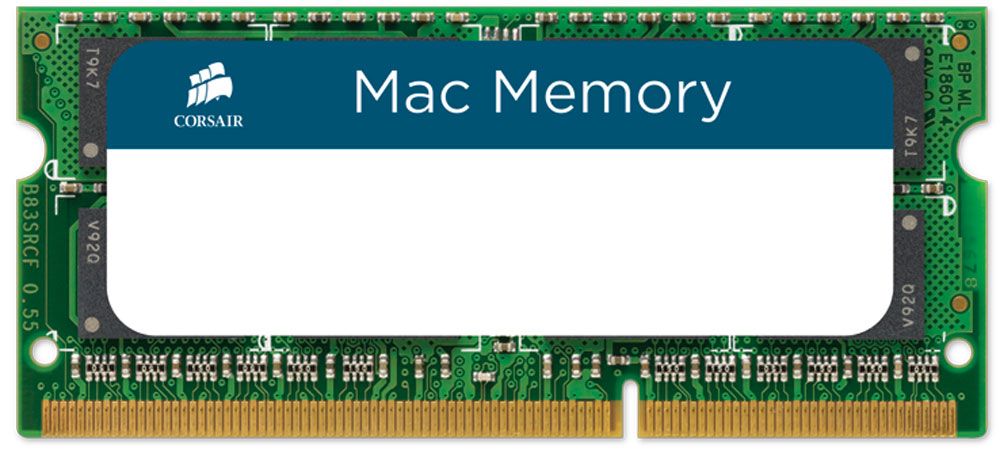 Corsair Mac Memory SO-DIMM DDR3 2х4Gb 1333 МГц комплект модулей оперативной памяти (CMSA8GX3M2A1333C9) 2 гб ddr dimm 200 266 мгц