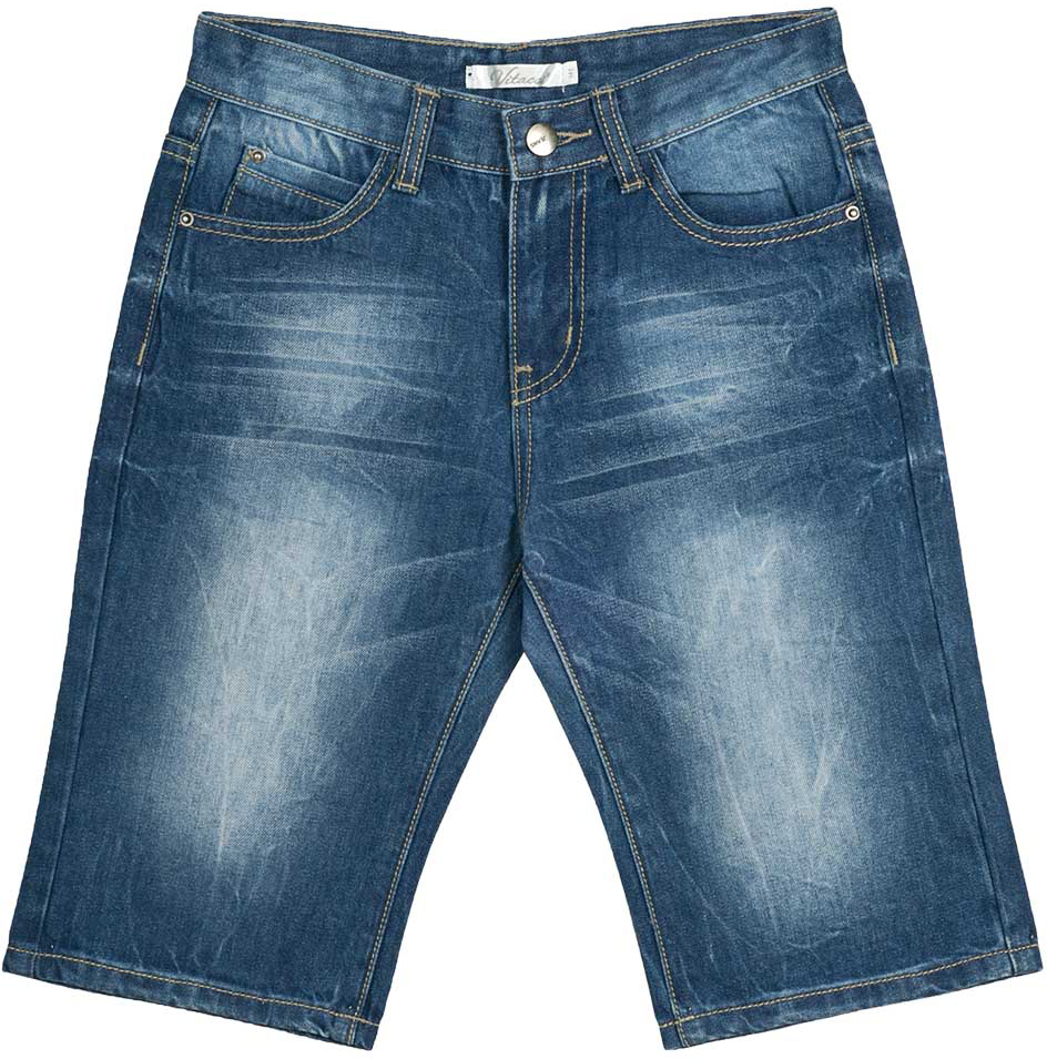 Шорты для мальчика Vitacci, цвет: синий. 1172038-04. Размер 1521172038-04Всегда актуальные джинсовые шорты для мальчика, классическая длина и трикотажная резинка на талии делают модель модной и удобной.