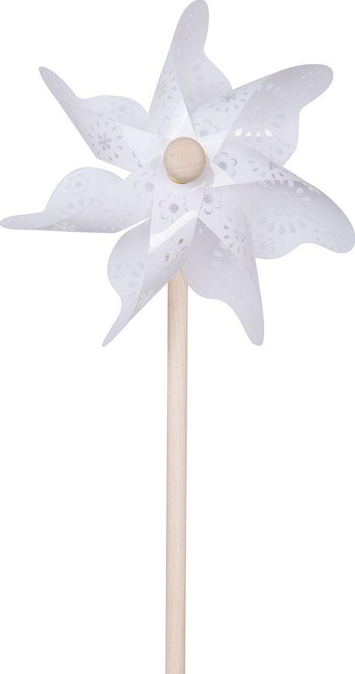 Fresh Trend Вертушка Ветрячок Белые узоры 31 см