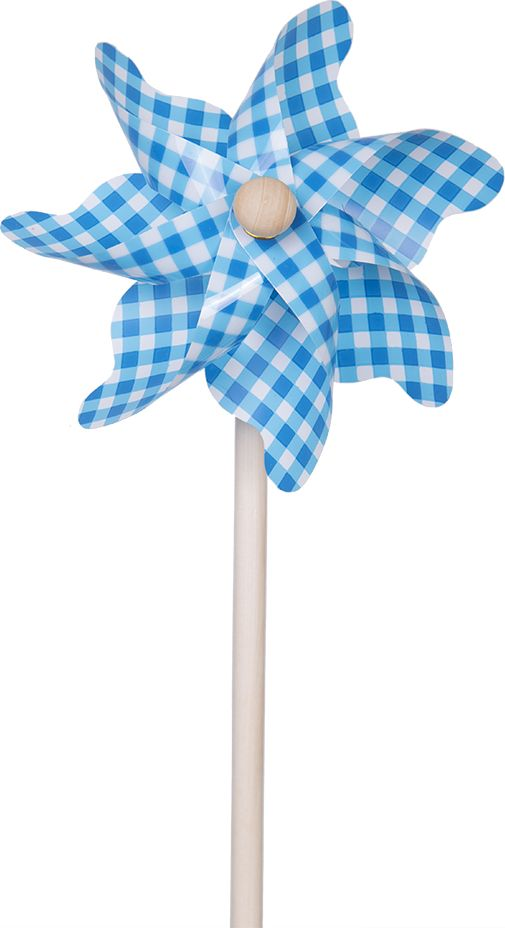 Fresh Trend Вертушка Ветрячок Голубая клетка 31 см