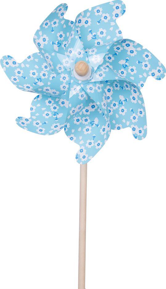 Fresh Trend Вертушка Ветрячок Небесно-голубой с цветочками 75 см