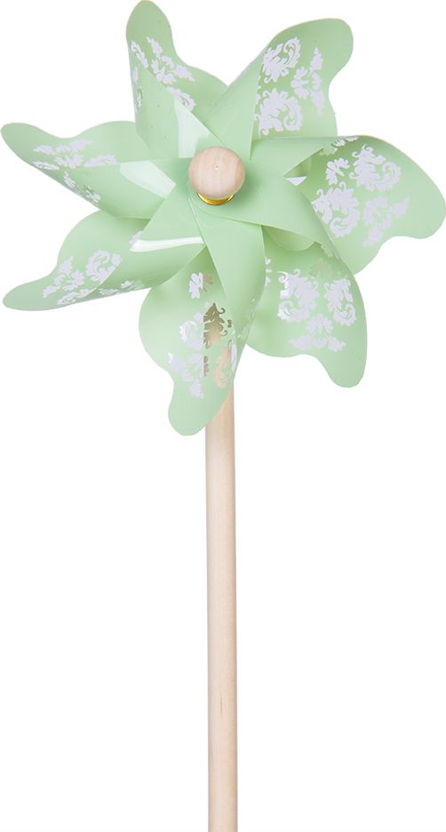 Fresh Trend Вертушка Ветрячок Зеленый с узорами 31 см