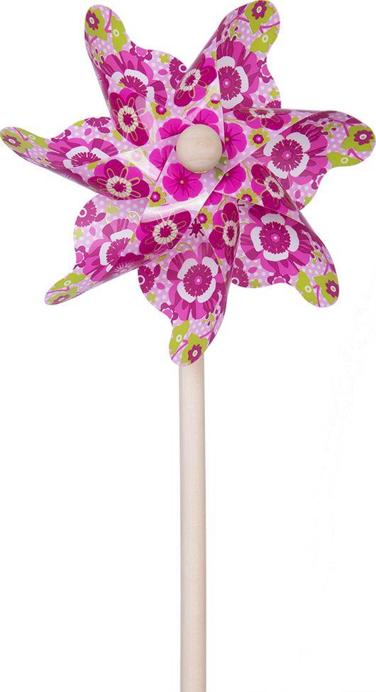Fresh Trend Вертушка Ветрячок Розовые цветы 31 см