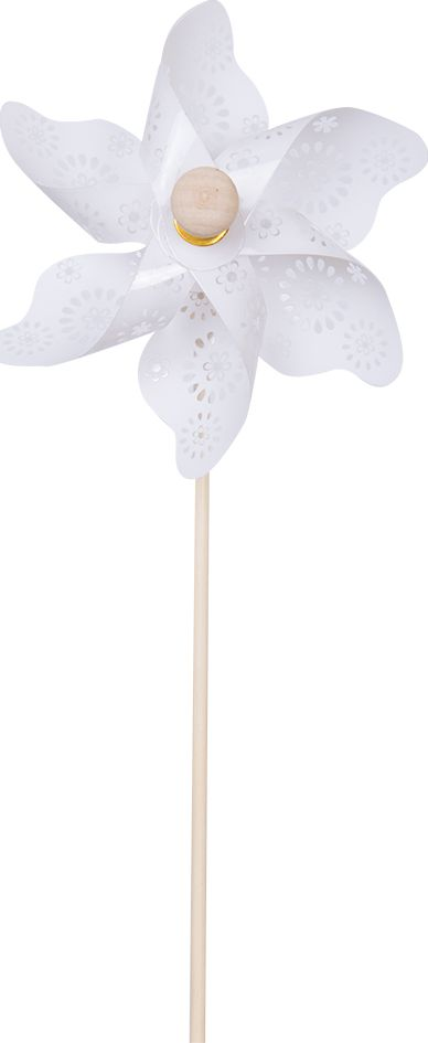 Fresh Trend Вертушка Ветрячок Белые узоры 28 см