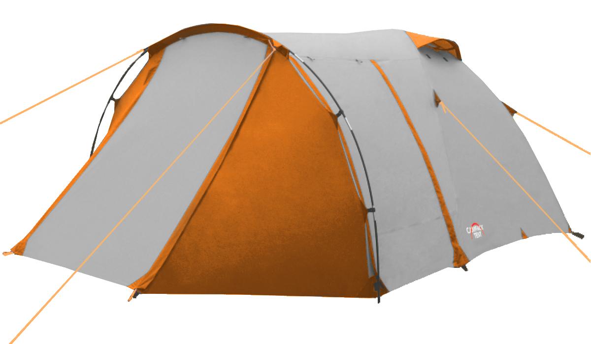 Палатка трехместная Campack Tent Breeze Explorer 3, цвет: синий, оранжевый, 210 х 180 х 140 см67742Campack Tent Breeze Explorer 3 - это современная палатка для несложных походов и семейного отдыха на природе. Конструкция позволяетиспользовать ее как весной, так и осенью. Отличается увеличенными размерами и повышеннойфункциональностью. Эта модель особенно удобна для любителей комфорта (имеет увеличенную высоту) и объемного багажа, который легко разместить в тамбуре площадью 3,5 м2. Модель Campack Tent Breeze Explorer 3 имеет три раздельных входа. Основной вход надежно защищен боковыми тентовымикрыльями, которые предотвращают задувание холодного воздуха, при сильных порывах ветра.