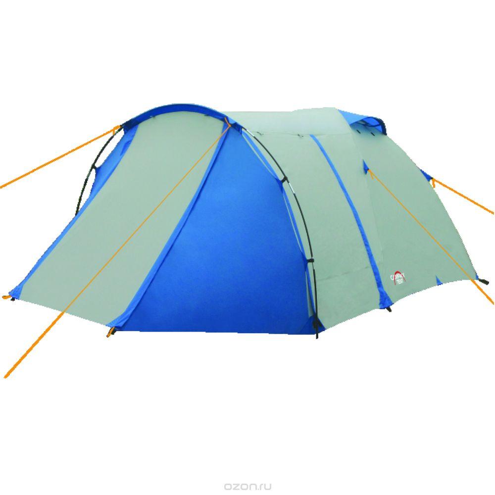 Палатка трехместная Campack Tent Breeze Explorer 337635Современная палатка для несложных походов и семейного отдыха на природе. Конструкция позволяет использовать ее как весной, так и осенью. Отличается увеличенными размерами и повышенной функциональностью. Эта модель особенно удобна для любителей комфорта (имеет увеличенную высоту) иобъемного багажа, который легко разместить в тамбуре площадью 3,5 м2.Модель Breeze Explorer имеет три раздельных входа. Основной вход надежно защищен боковыми тентовыми крыльями, которые предотвращают задувание холодного воздуха, при сильных порывах ветра.Особенности:Высокопрочное дно изготовлено из армированного полиэтилена, не пропускаетвлагу и устойчиво к истиранию.Каркас, изготовленный из фибергласса, обеспечивает надежность и устойчивость.Палатка оснащена увеличенными вентиляционными окнами, клапаном от косогодождя и тремя входами с цветными молниями.Измененное крепление третьей дуги, значительно облегчает установку палатки.Внутри палатки имеется подвеска для фонаря и карманы для хранения мелочей.Проклеенные швы гарантируют герметичность и надежность в любой ситуации.Ткань тента: 190T P. Taffeta; Ткань палатки: 170T P. Taffeta + MESH;Ткань дна: Tarpauling;Каркас: фибергласс 8,5 мм и 9,5 мм.