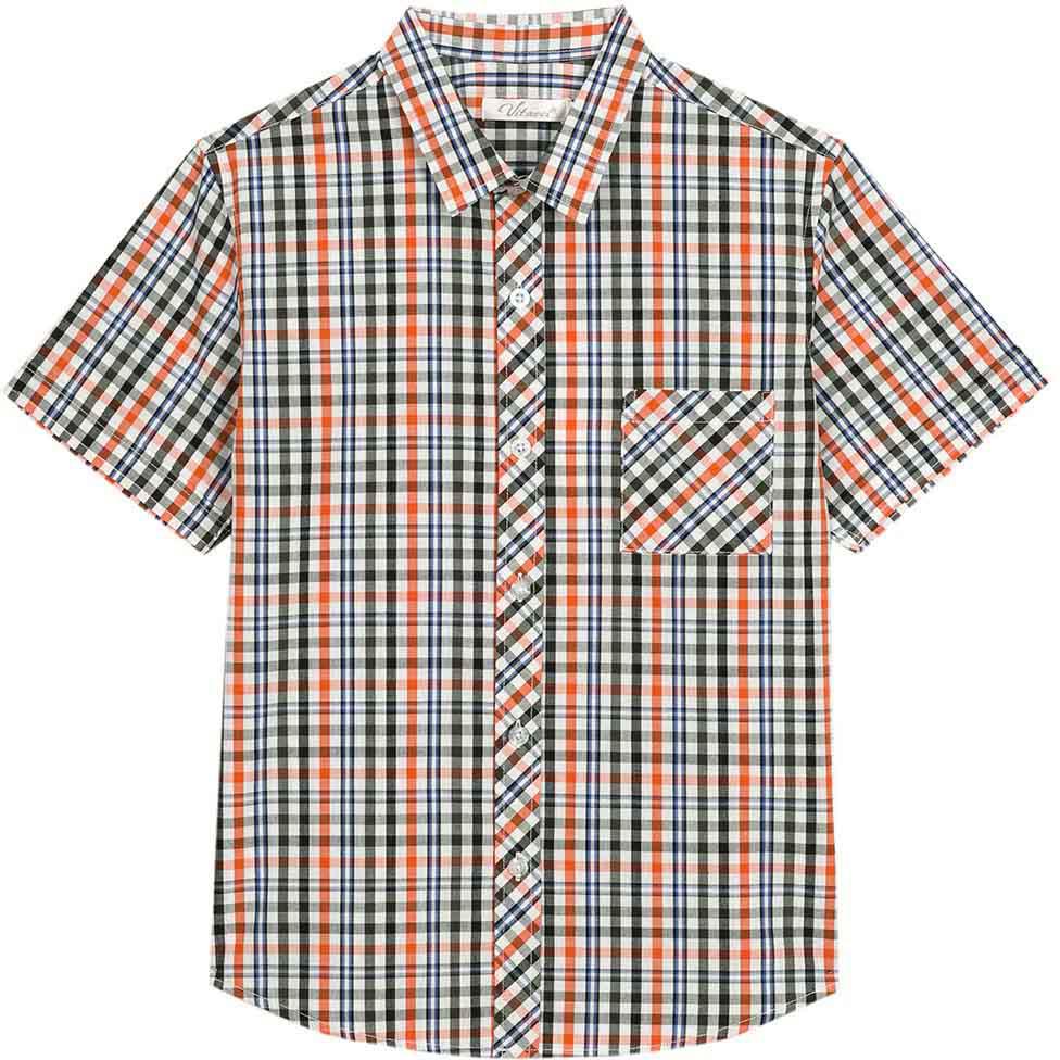 Рубашка для мальчика Vitacci, цвет: синий, белый. 1172110-04. Размер 1341172110-04Модная клетчатая рубашка с коротким рукавом из высококачественного хлопка будет удачным выбором для мальчика-подростка. Отлично сочетается с джинсами и джинсовыми шортами.