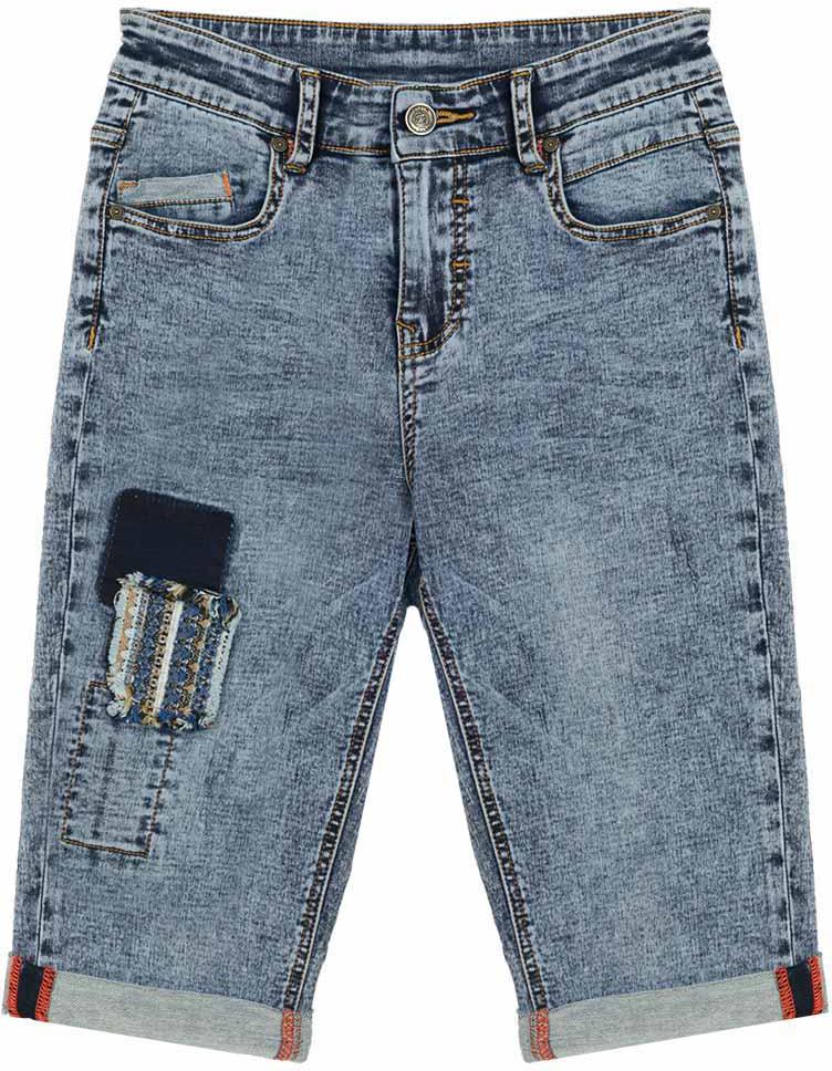 Джинсы для мальчика Vitacci, цвет: синий. 1172117-04. Размер 1341172117-04Укороченные джинсы-бермуды для модных подростков в сочетании с оригинальной футболкой или рубашкой создадут неповторимый образ и позволят чувствовать себя комфортно в любой ситуации.