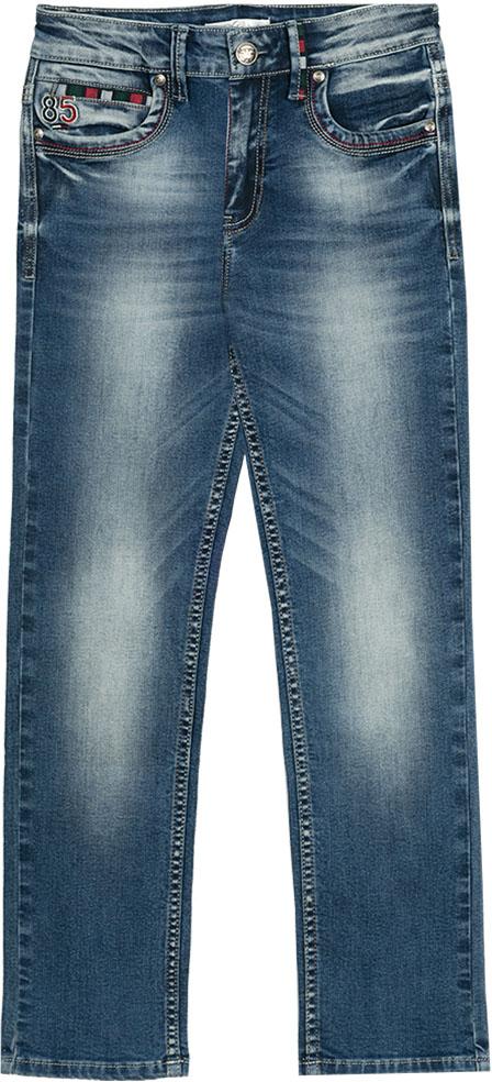 Джинсы для мальчика Vitacci, цвет: синий. 1172156-04. Размер 1401172156-04Классические джинсы подойдут на любой случай жизни, а в сочетании с футболкой или рубашкой позволят чувствовать себя стильно и комфортно.