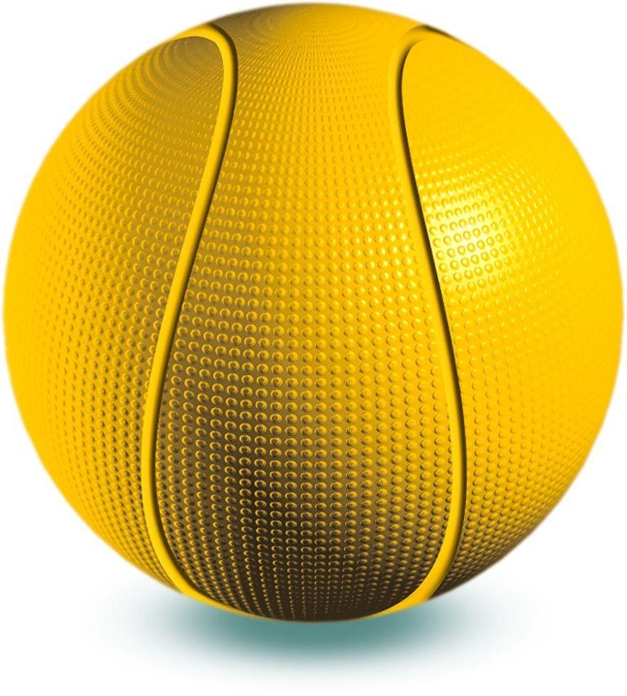 Весна Мяч детский баскетбольный цвет желтый диаметр 25,5 см