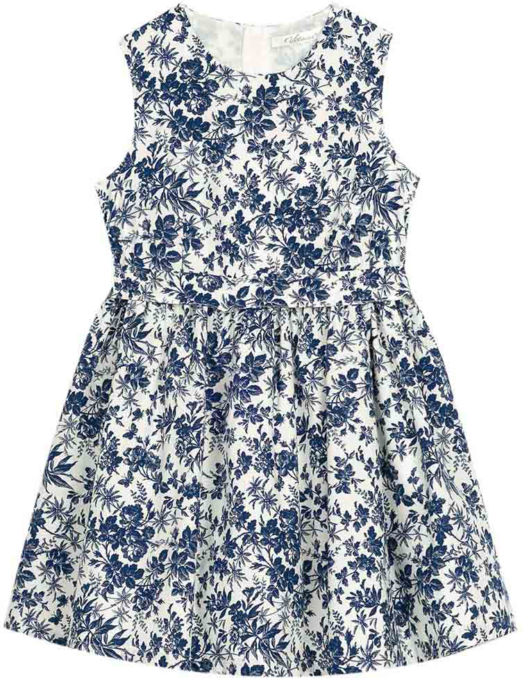 Сарафан для девочки Vitacci, цвет: синий. 2172011-04. Размер 1342172011-04Летний сарафан в стиле прованс, цветочный рисунок понравится маленьким модницам, а высококачественный хлопок создаст ощущение комфорта даже в самый жаркий день.